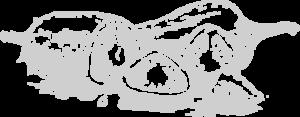 Silueta en blanco y negro de pimentón