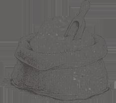 Ilustración en blanco y negro de sal