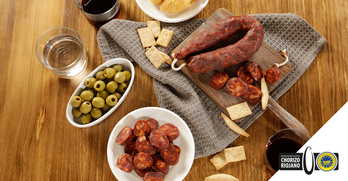 vino, chorizo y pan, gastronomía La Rioja