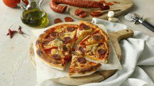 Pizza de chorizo riojano